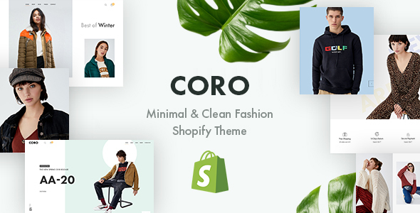 CORO – Minimal & Clean Fashion Shopify Theme