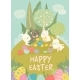 Easter Bunnies and Easter Eggs - GraphicRiver Item for Sale