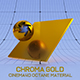 Cinema4D Octane CHROMA Gold Material - 3DOcean Item for Sale