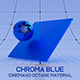 Cinema4D Octane CHROMA Blue Material - 3DOcean Item for Sale