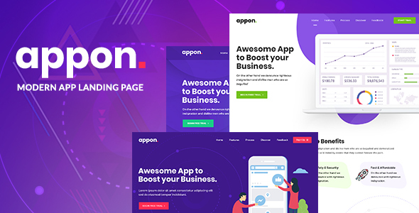 Appon - App & SaaS Software Theme