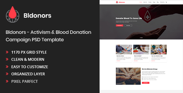 Activism & Blood Donation Campaign PSD Template by sabuj6