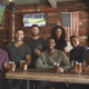 Group Of Friends Meeting And Drinking Beer In Sports Bar Together At Camera - PhotoDune Item for Sale