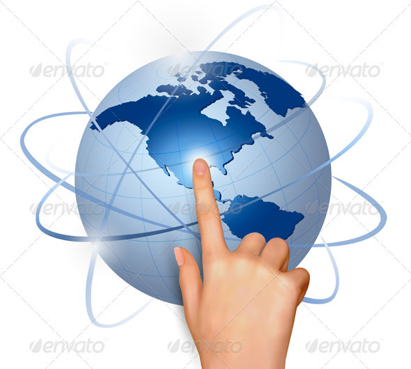 Finger Touching Globe - Concepts Business