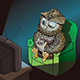 Sleepy Owl with Cup of Coffee - GraphicRiver Item for Sale