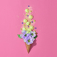 Ice Cream Cone with Candies, Flowers. Vintage - PhotoDune Item for Sale