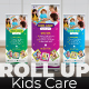 Kids Care Roll Up Banner - GraphicRiver Item for Sale