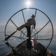 Burmese fisherman catching fish. Inle lake, Myanmar - PhotoDune Item for Sale