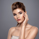 Beautiful face of young caucasian woman with health skin - PhotoDune Item for Sale