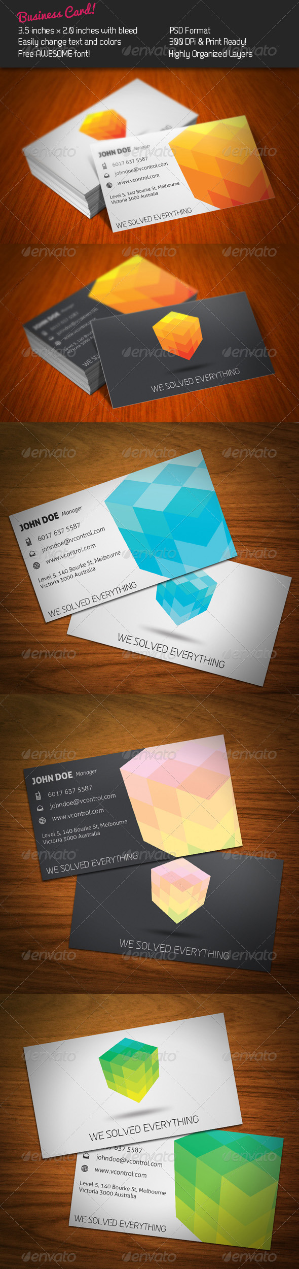 Cubic Business Card - Corporate Business Cards