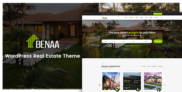 Download Benaa – Real Estate WordPress Theme nulled benaa preview