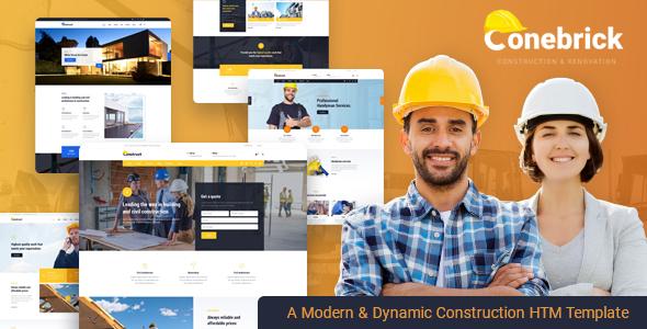 Conebrick - Construction Builder HTML5 Template