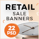 Retail Sale Web Ad Banners - Watch - GraphicRiver Item for Sale