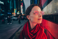 Young woman with a red glasses - PhotoDune Item for Sale