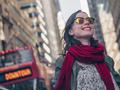 Smiling girl in Manhattan in New York - PhotoDune Item for Sale