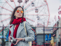 Young woman with a retro camera - PhotoDune Item for Sale