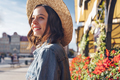 Happy attractive girl in a hat in summer - PhotoDune Item for Sale