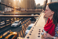 Young photographer on the bridge in New York - PhotoDune Item for Sale