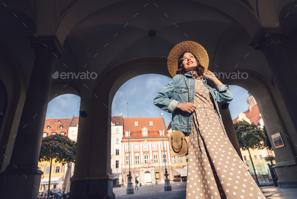 Young girl in Europe - Stock Photo - Images