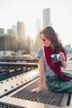 Smiling woman on the bridge - PhotoDune Item for Sale