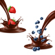Strawberry and Blueberry Splashing in Chocolate - GraphicRiver Item for Sale