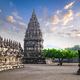 Amazing Prambanan Temple against sunrise sky. Indonesia - PhotoDune Item for Sale