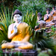 Lot Buddhas statues in Loumani Buddha Garden.  Hpa-An, Myanmar - PhotoDune Item for Sale
