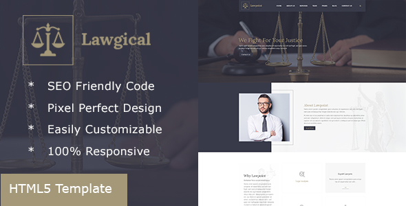 Lawgical - Lawyer & Attorney HTML5 Template