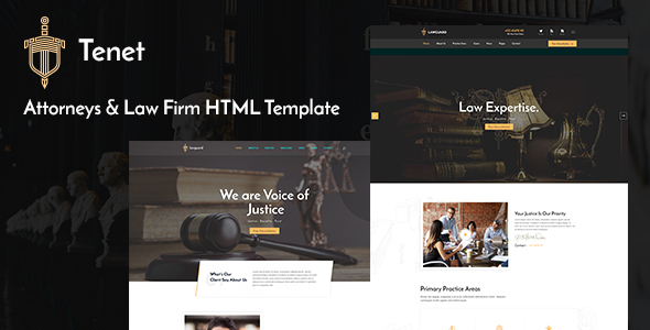 Tenet - Lawyer and Law Firm HTML Template