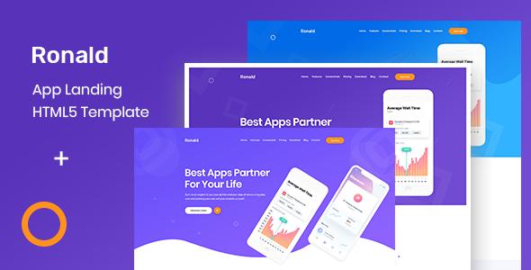 Ronald - App Landing HTML5 Template