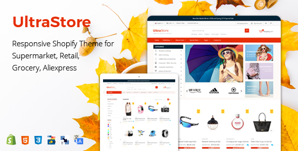 UltraStore - Responsive Shopify Theme for Supermarket, Retail, Grocery, Aliexpress