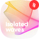 Isolated Network Flow of Waves with Dynamic Lines on White Backgrounds - GraphicRiver Item for Sale