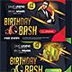 Birthday Bash Flyer v4 - GraphicRiver Item for Sale