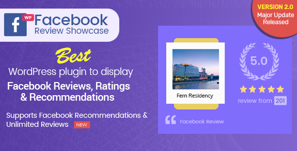 Download WP Facebook Review Showcase – FB Page Review Plugin for WordPress Free Nulled