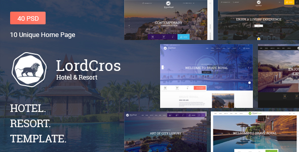 LordCros - Hotel, Resort & Spa PSD Template
