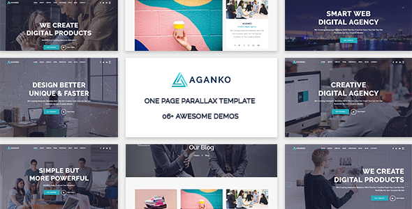 Aganko - One Page Parallax Template