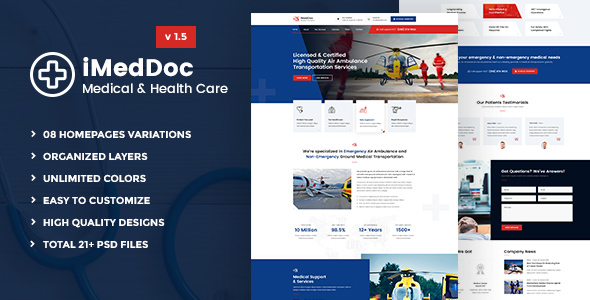 iMedDoc: Medical Center and Health PSD Template - Health & Beauty Retail