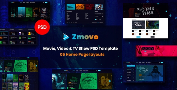Zmovo - Online Movie, Video & TV Show PSD Template