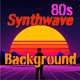 80s Synthwave Background Scientific