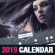Fashion Corporate 2019 Horizontal Calendar Template - GraphicRiver Item for Sale