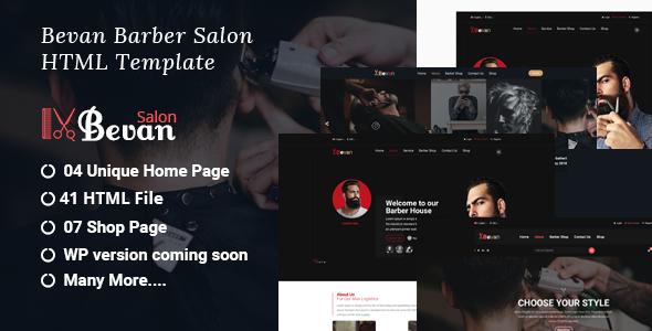 Bevan – Barber Salon Bootstrap 4 HTML Template
