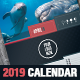 Stylish Corporate 2019 Calendar Template - GraphicRiver Item for Sale