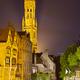 Rozenhoedkaai In Bruges At Night - PhotoDune Item for Sale