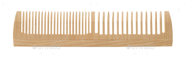 Single wooden comb - Stock Photo - Images