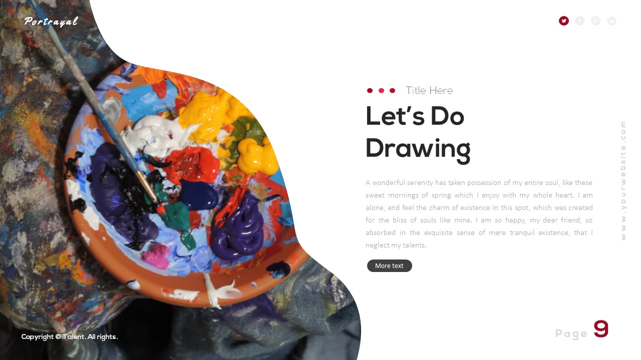 Portrayal Artistic Powerpoint Template