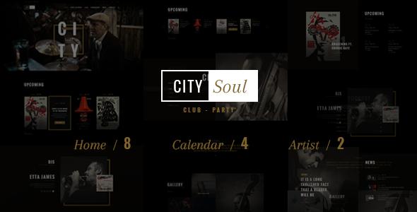 CitySoul Music WordPress Theme - Nightclub Party Bars Lounge
