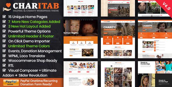 Charity Nonprofit Charity Wordpress By Thememascot Themeforest