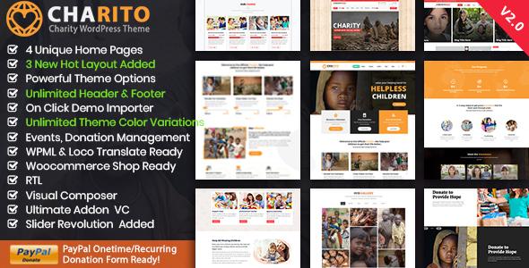 Charito - Nonprofit Charity Crowdfunding WP