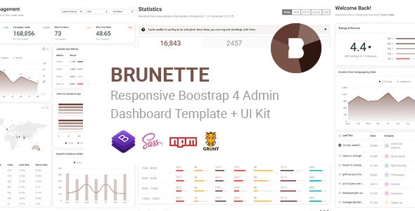 Brunette - Responsive Bootstrap 4 Admin & Powerful UI Kit