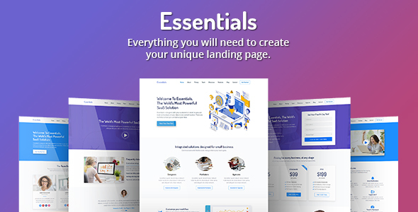 Essentials - High Converting SaaS Landing Page Template by Epic-Themes